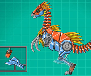 Toy War Robot Therizinosaurus
